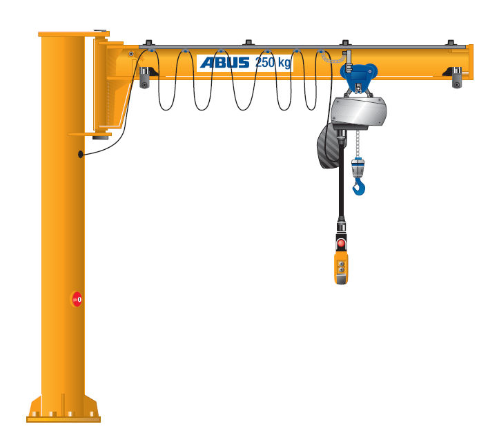 freestanding workstation bridge crane