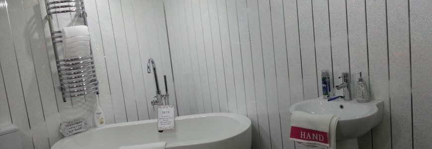 PVC panels for bathrooms
