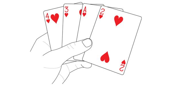 performing impromptu card tricks